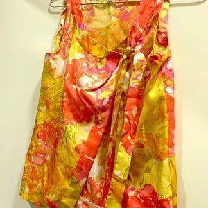J. Crew multi color silk blouse. NWT